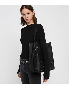 Mazzy North South Leather Tote Bag by Allsaints