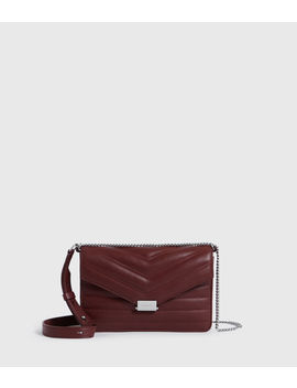 Justine Small Leather Flap Crossbody Bag by Allsaints