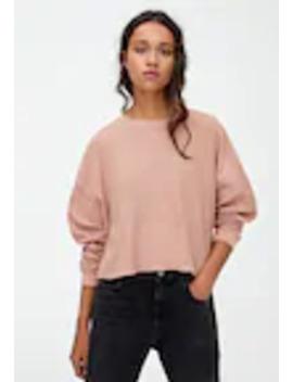 long-sleeve---stickad-tröja by pull&bear