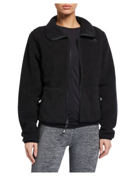 dunraven-sherpa-fleece-zip-front-crop-jacket by the-north-face