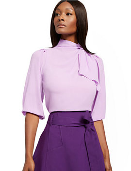 purple-twist-tie-neck-blouse---7th-avenue by new-york-&-company