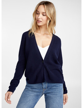 single-button-ribbed-cardigan by contemporaine
