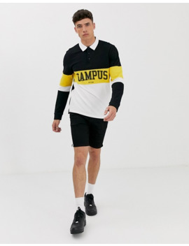 only-&-sons---piqué-rugbyshirt-met-campusprint by only-&-sons