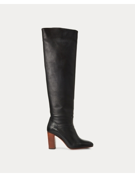 brie-leather-boot by ralph-lauren