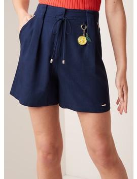 paperbag-shorts-met-koord-en-contrastbies by ted-baker