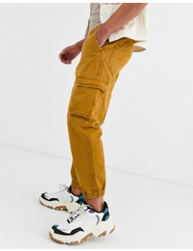 bershka-cargo-trousers-with-pocket-detail-in-brown by bershkas