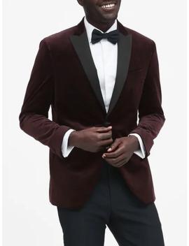 slim-italian-velvet-tuxedo-jacket by banana-repbulic