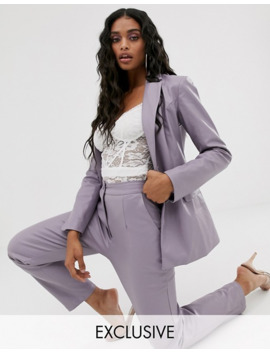 unique21-fitted-blazer-&-slim-pants-in-lilac-pu-two-piece by asos