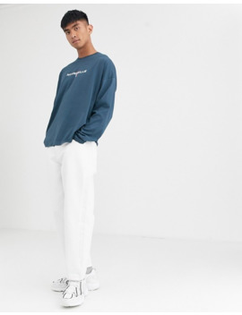 asos-design-oversized-long-sleeve-t-shirt-with-city-flag-print-in-navy by asos-design