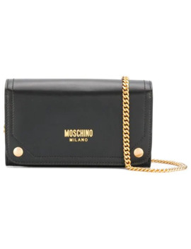 printed-logo-clutch-bag by moschino