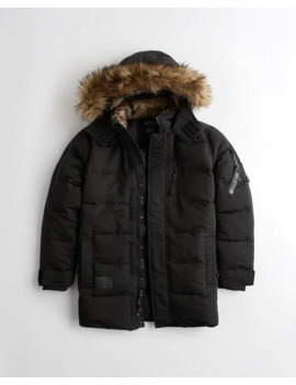 Quilted Parka by Hollister