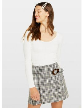 cream-scoop-neck-knitted-top by miss-selfridge