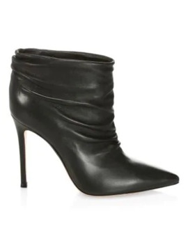 cyril-ruched-leather-ankle-boots by gianvito-rossi