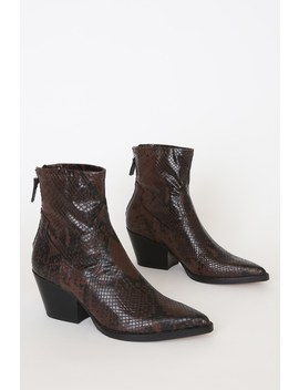 shanta-espresso-snake-print-pointed-toe-booties by dolce-vita