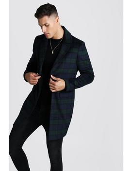 brushed-wool-look-overcoat by boohoo