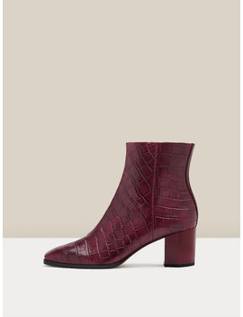 Thelma Embossed Croc Ankle Boots by Dvf