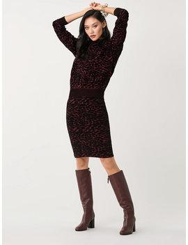 Vita Velvet Blend Fitted Skirt by Dvf
