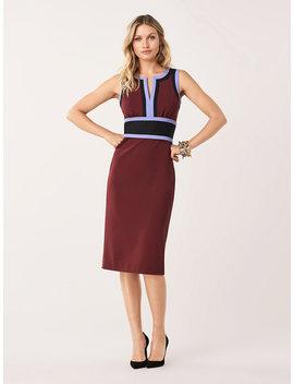 Maribel Stretch Ponte Knee Length Dress by Dvf