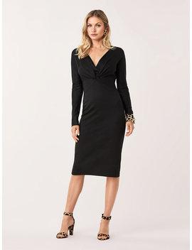 Regina Wool Blend Midi Dress by Dvf
