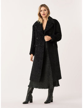 Ariana Metallic Tweed Double Breasted Coat by Dvf