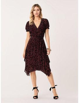 katherine-velvet-burnout-wrap-dress by dvf
