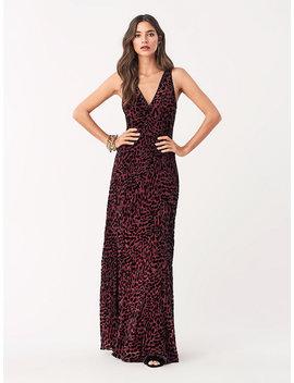 Clemine Velvet Burnout Embellished Gown by Dvf