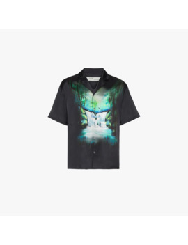 waterfall-printed-satin-shirt by off-white