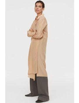 vestido-cruzado-mezcla-de-seda by h&m