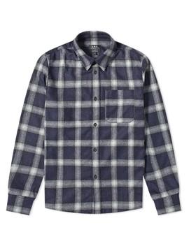 apc-trek-wool-check-overshirt by apc