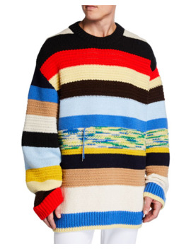 calvin-klein-205w39nyc-mens-oversized-multi-stripe-sweater by calvin-klein-205w39nyc