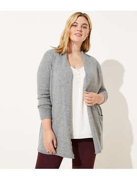 loft-plus-shawl-collar-open-cardigan by loft