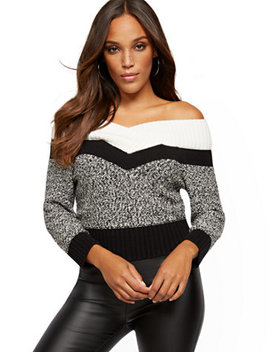 colorblock-on_off-the-shoulder-sweater---7th-avenue by new-york-&-company