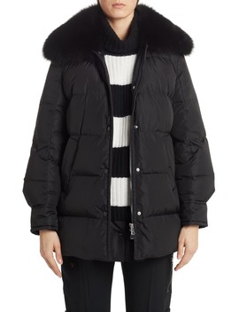 mesange-quilted-down-puffer-coat-with-removable-genuine-fox-fur-collar by moncler