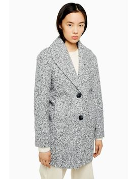 black-and-white-salt-and-pepper-coat by topshop