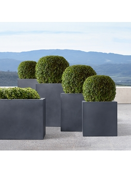 estate-zinc-square-planters by restoration-hardware