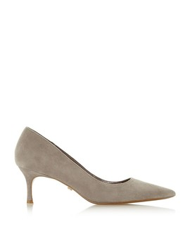 taupe-suede-astley-kitten-heel-court-shoes by dune