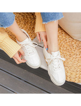 merongshop---faux-leather-sneakers by merongshop