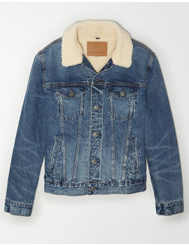 ae-sherpa-denim-trucker-jacket by american-eagle-outfitters