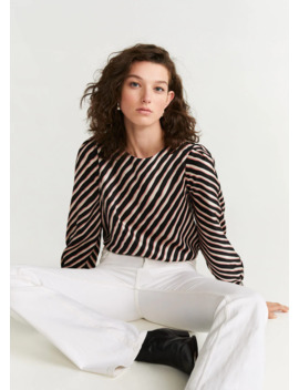 blusa-stampa-righe by mango