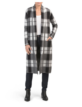 double-knit-plaid-duster-cardigan by tahari