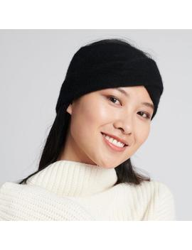 cashmere-twist-headband-black by naadam