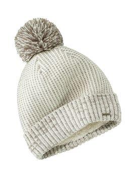winter-lined-pom-hat by llbean