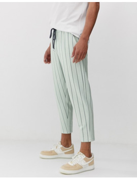asos-design-tall-skinny-cropped-sweatpants-in-pinstripe by asos-design