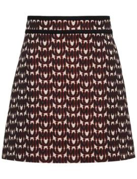 logo-print-a-line-skirt by miu-miu