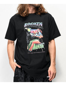 Broken Promises Skeptic Black T Shirt by Zumiez