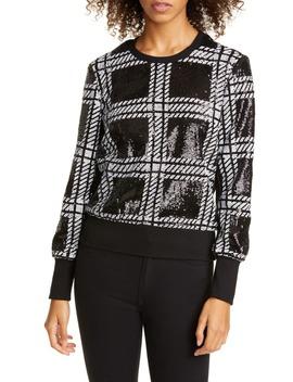 catiya-check-sequin-sweatshirt by ted-baker-london