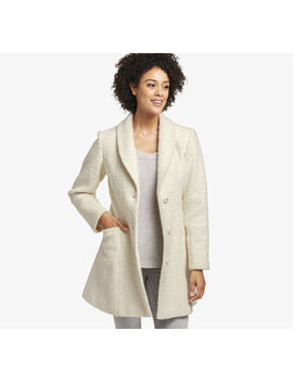 Boucle Textured Coat by Johnston & Murphy