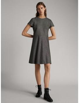 short-wool-dress-with-knickerbocker-yarn-effect by massimo-dutti