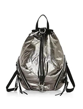 julian-metallic-nylon-backpack by rebecca-minkoff