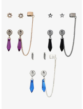 dream-catcher-crystal-cuff-earring-set by hot-topic